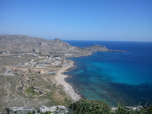 Stunning view from the cliffs of Navarone