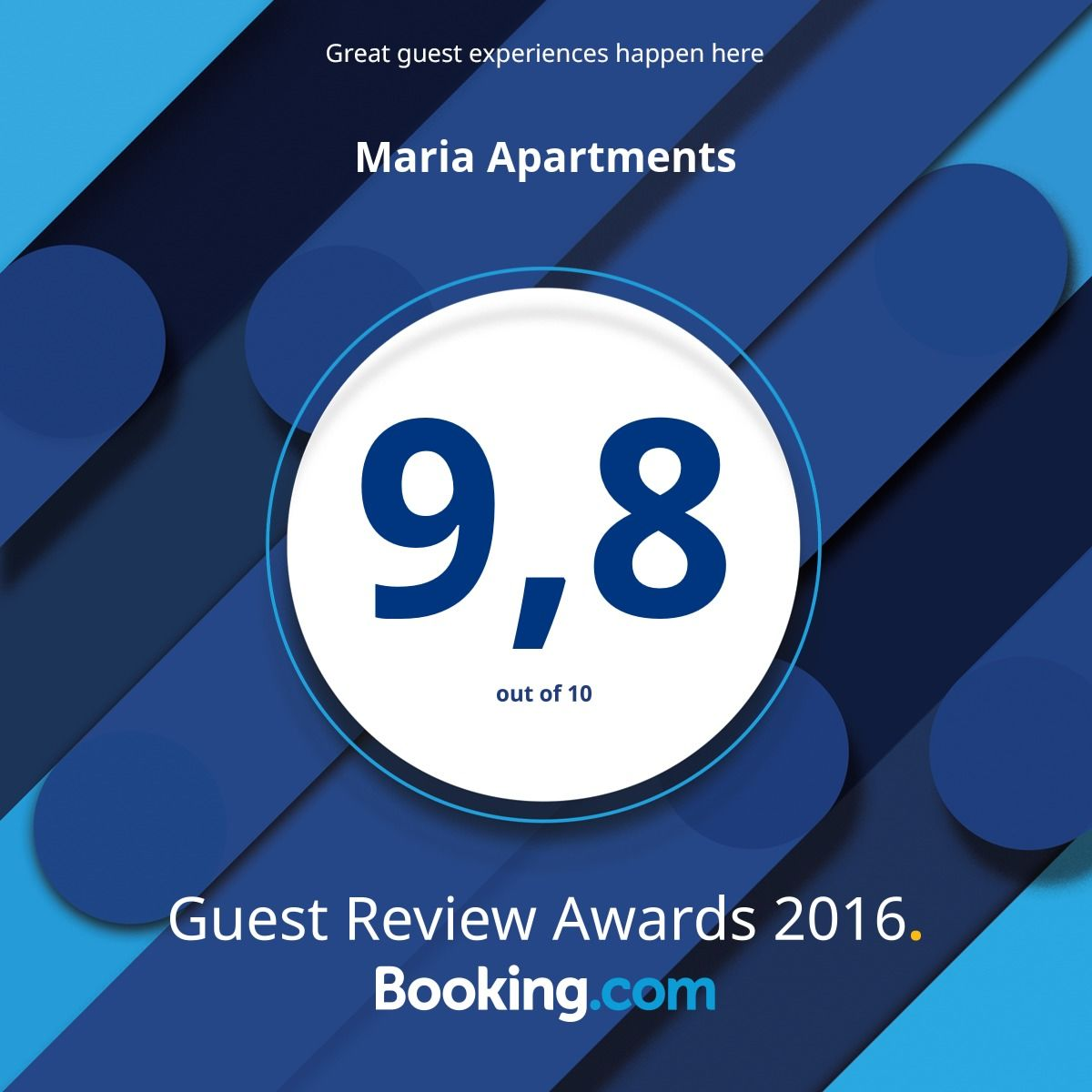 Marias Apartments Booking Score
